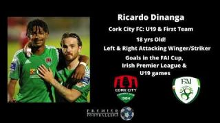 Ricardo Dinanga - Goals to date in 2020 for Cork City FC - U19 & 1st Team
